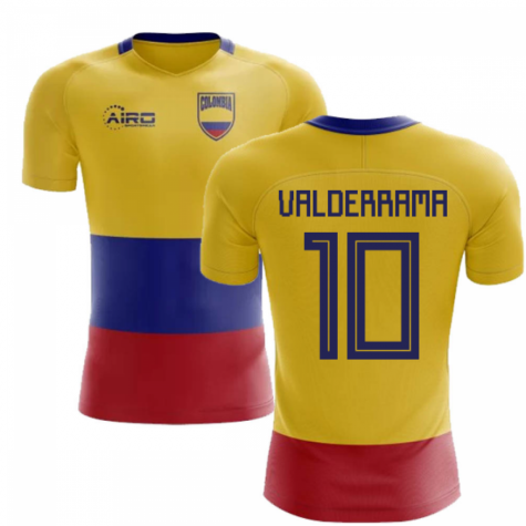 2020-2021 Colombia Flag Concept Football Shirt (Valderrama 10) - Kids