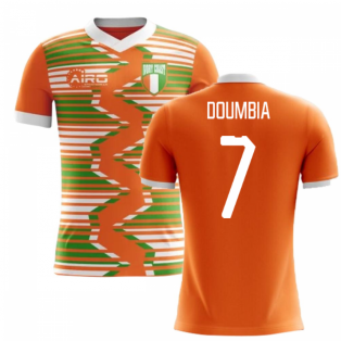 2020-2021 Ivory Coast Home Concept Football Shirt (Doumbia 7) - Kids