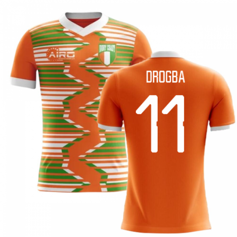 2020-2021 Ivory Coast Home Concept Football Shirt (Drogba 11) - Kids