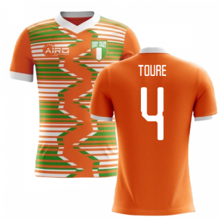 2020-2021 Ivory Coast Home Concept Football Shirt (Toure 4) - Kids