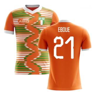 2020-2021 Ivory Coast Home Concept Football Shirt (Eboue 21) - Kids
