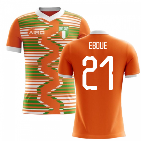 2018-2019 Ivory Coast Home Concept Football Shirt (Eboue 21) - Kids