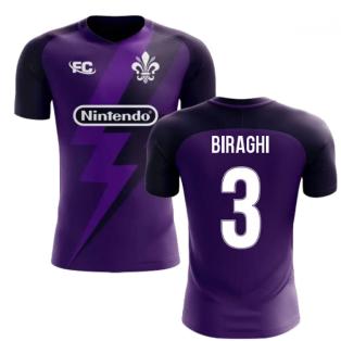 2020-2021 Fiorentina Fans Culture Home Concept Shirt (Biraghi 3) - Kids