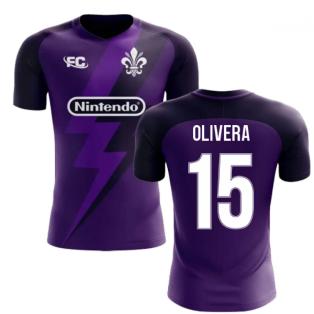 2020-2021 Fiorentina Fans Culture Home Concept Shirt (Olivera 15) - Kids