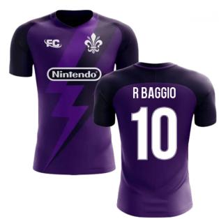 2018-2019 Fiorentina Fans Culture Home Concept Shirt (R Baggio 10) - Kids