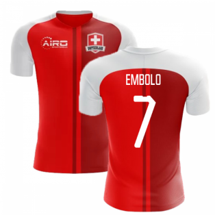 2020-2021 Switzerland Home Concept Football Shirt (Embolo 7) - Kids