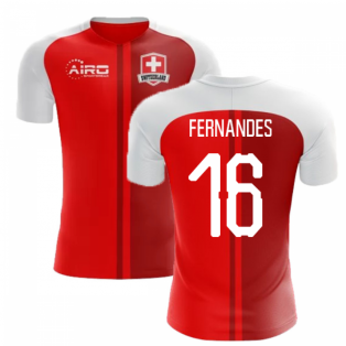 2020-2021 Switzerland Home Concept Football Shirt (Fernandes 16) - Kids