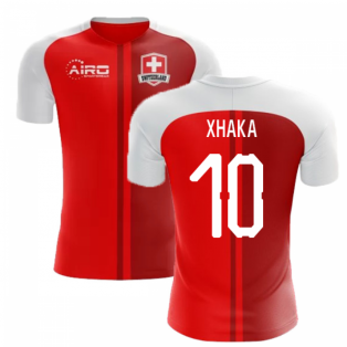24e2df5b2bc 2018-2019 Switzerland Home Concept Football Shirt (Xhaka 10)