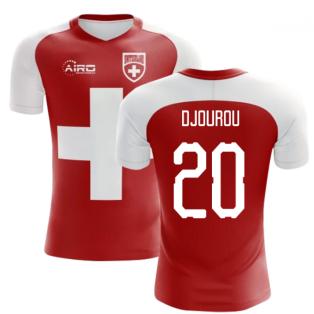 2020-2021 Switzerland Flag Concept Football Shirt (Djourou 20) - Kids