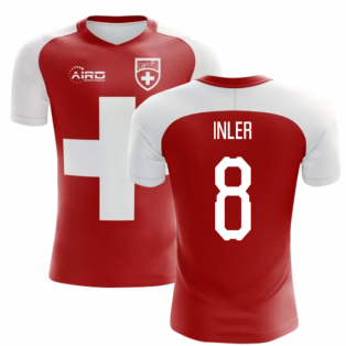 2018-2019 Switzerland Flag Concept Football Shirt (Inler 8) - Kids