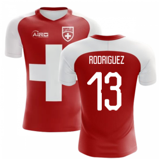 2018-2019 Switzerland Flag Concept Football Shirt (Rodriguez 13) - Kids