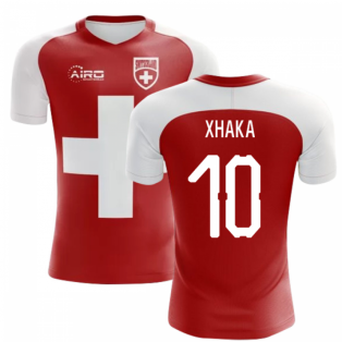 2020-2021 Switzerland Flag Concept Football Shirt (Xhaka 10) - Kids