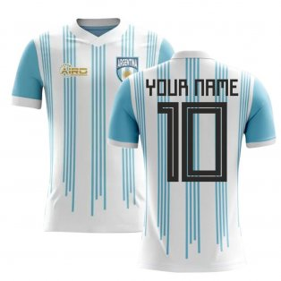 2020-2021 Argentina Home Concept Football Shirt (Your Name) -Kids