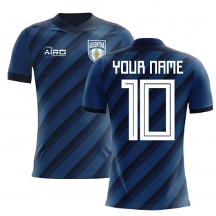 2020-2021 Argentina Away Concept Football Shirt (Your Name) -Kids