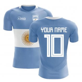 2020-2021 Argentina Flag Concept Football Shirt (Your Name) -Kids