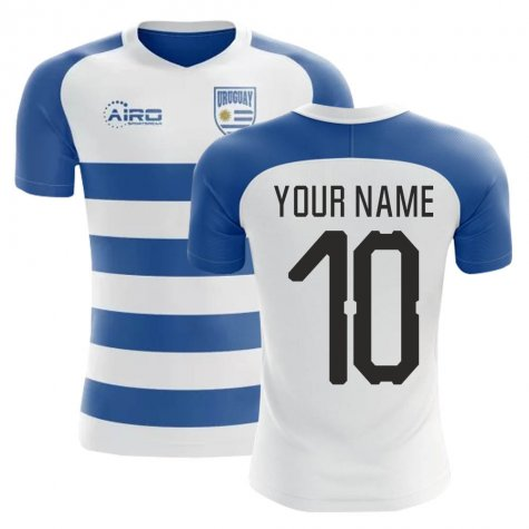 2020-2021 Uruguay Home Concept Football Shirt (Your Name) -Kids