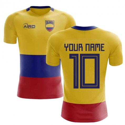 2020-2021 Colombia Flag Concept Football Shirt (Your Name) -Kids