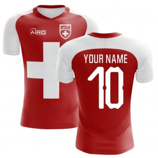 2020-2021 Switzerland Flag Concept Football Shirt (Your Name) -Kids