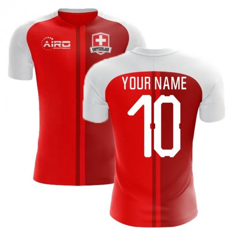 2020-2021 Switzerland Home Concept Football Shirt (Your Name) -Kids