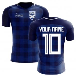 2018-2019 Scotland Tartan Concept Football Shirt (Your Name) -Kids