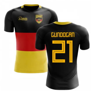 2018-2019 Germany Flag Concept Football Shirt (Gundogan 21) - Kids