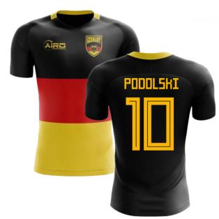 2018-2019 Germany Flag Concept Football Shirt (Podolski 10) - Kids