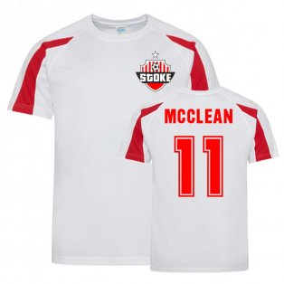 James McLean Stoke Sports Training Jersey (White)