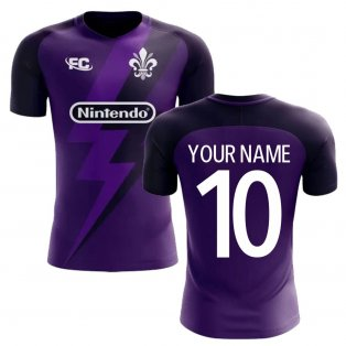 2020-2021 Fiorentina Fans Culture Home Concept Shirt (Your Name) -Kids