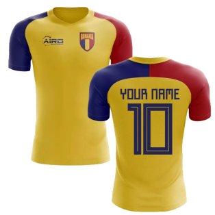 2020-2021 Romania Home Concept Football Shirt (Your Name) -Kids