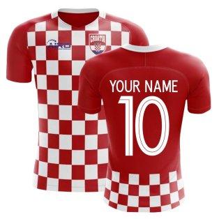 2018-2019 Croatia Flag Concept Football Shirt (Your Name)
