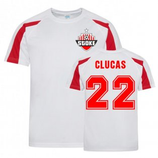 Sam Clucas Stoke Sports Training Jersey (White)