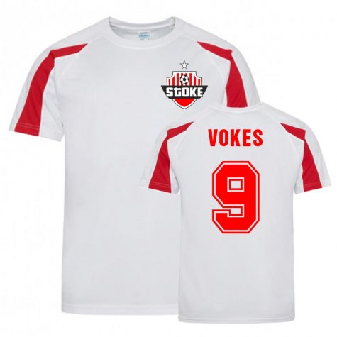 Sam Vokes Stoke Sports Training Jersey (White)