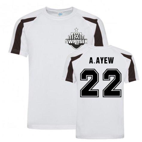 Andre Ayew Swansea Sports Training Jersey (White)