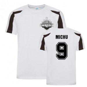 Michu Swansea Sports Training Jersey (White)