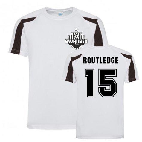 Wayne Routledge Swansea Sports Training Jersey (White)