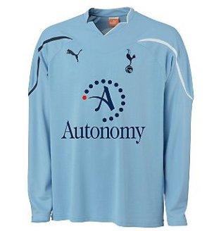 2010-11 Tottenham Away Long Sleeve Puma Football Shirt (Kids)