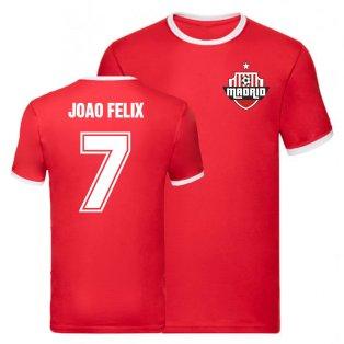 Joao Felix Atletico Madrid Ringer Tee (Red)
