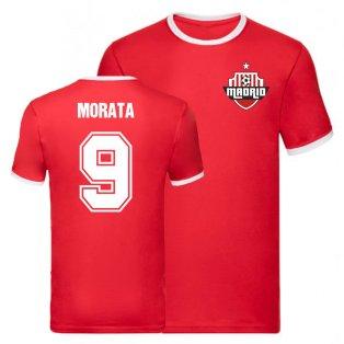 Alvaro Morata Atletico Madrid Ringer Tee (Red)