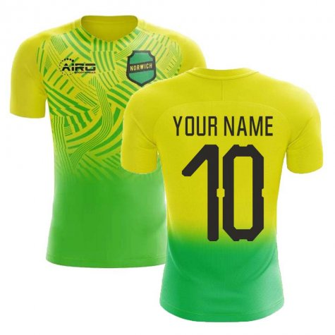 2020-2021 Norwich Home Concept Football Shirt (Your Name)