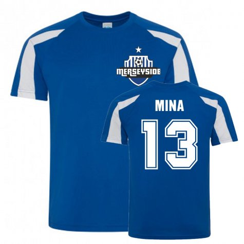 Yerry Mina Everton Sports Training Jersey (Blue-White)