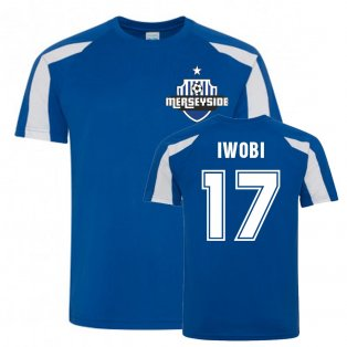 Alex Iwobi Everton Sports Training Jersey (Blue-White)