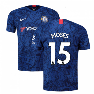 2019-20 Chelsea Home Shirt (Moses 15) - Kids