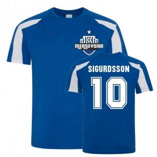 Gylfi Sigurdsson Everton Sports Training Jersey (Blue-White)