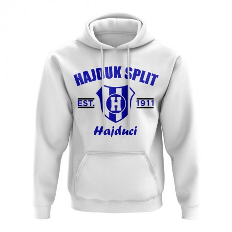 Hadjuk Split Established Football Hoody (White)