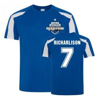 Richarlison Everton Sports Training Jersey (Blue-White)