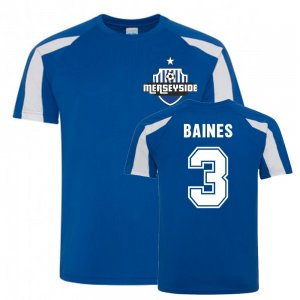 Leighton Baines Everton Sports Training Jersey (Blue-White)