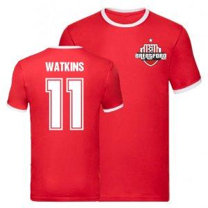 Ollie Watkins Brentford Ringer Tee (Red)