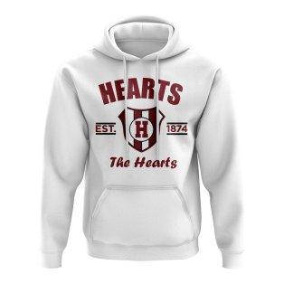 Hearts Established Football Hoody (White)