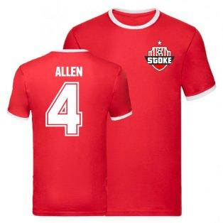 Joe Allen Stoke City Liverpool Ringer Tee (Red)