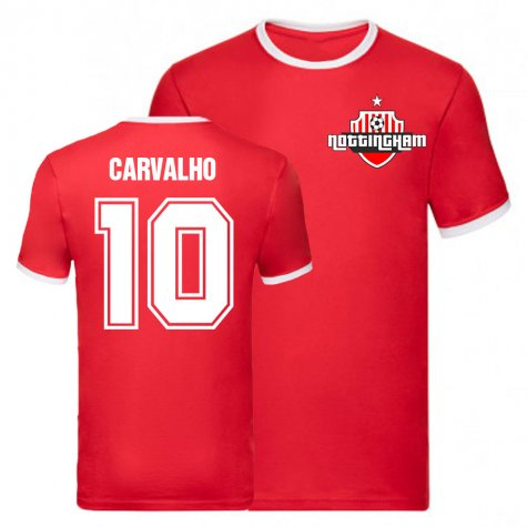 Joao Carvalho Nottingham Forest Ringer Tee (Red)
